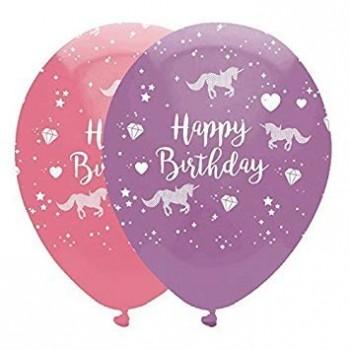 Ballons latex anniversaire licorne www.bellefete.ch en Suisse