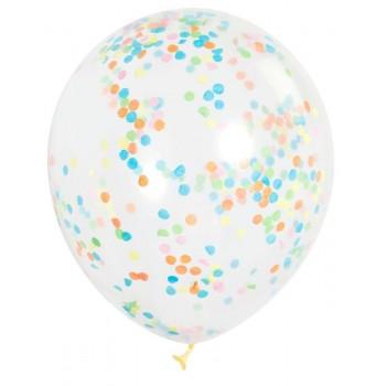 Ballons en latex à confettis couleurs