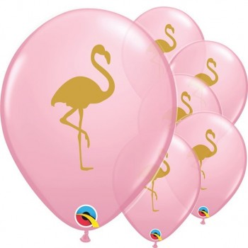 Ballons flamants roses en latex