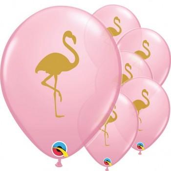 Ballons flamants roses en latex