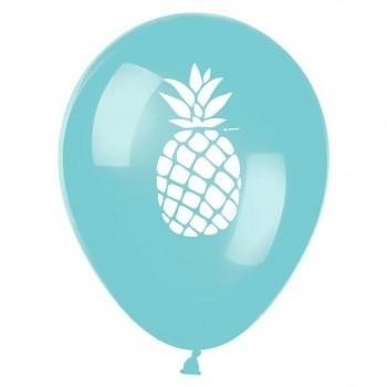 Ballons ananas thème fête tropical