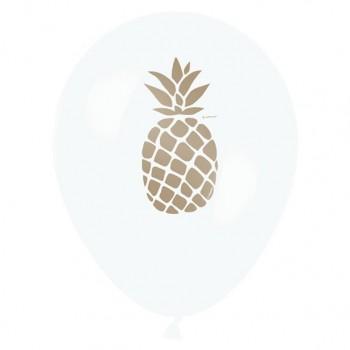 25 ballons imprimé ananas fête tendance