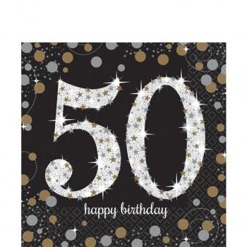 Serviettes anniversaire 50 ans