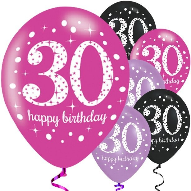 ballons anniversaire 30 ans rose