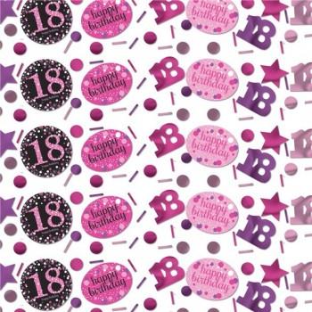 Confettis 18 ans anniversaire rose