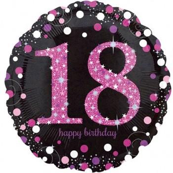 ballon 18 ans anniversaire rose