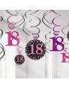 Suspensions de décoration 18 ans anniversaire