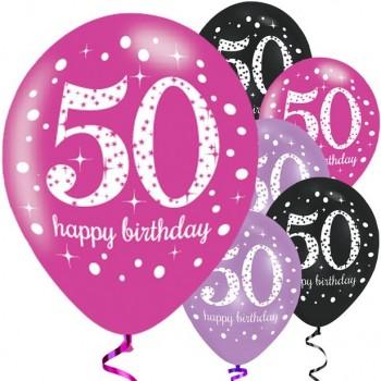Ballons Roses 50 Ans...