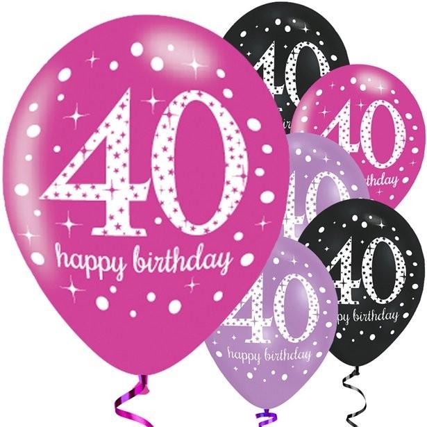 Joyeux Anniversaire 40 Ans.Ballons Roses 40 Ans Joyeux Anniversaire
