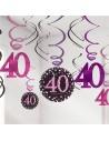 décorations anniversaire 40 ans rose