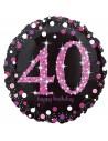 ballon anniversaire 40 ans rose