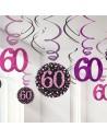Décorations anniversaire 60 ans rose