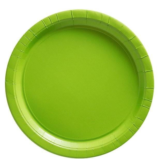 assiettes à dessert vert lime