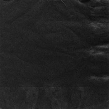 serviettes noir chic tendance
