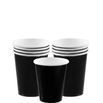 Gobelets noirs en papier