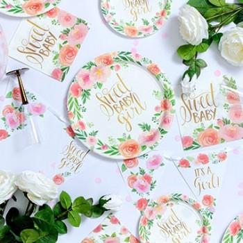 décorations baby shower floral avec www.bellefete.ch en Suisse