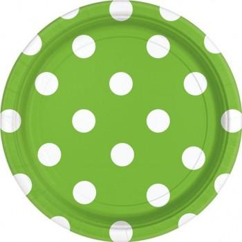 assiettes de fête en papier vert lime