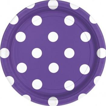 assiettes de fête en papier violettes
