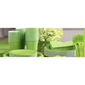 vaisselle de fête vert lime en plastique sur www.bellefete.ch en Suisse
