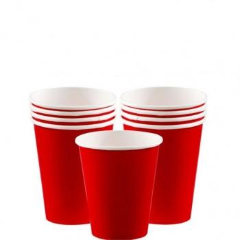 gobelets de fête rouge