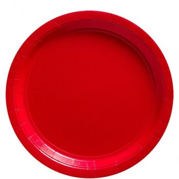 ASSIETTES DE FETE ROUGE