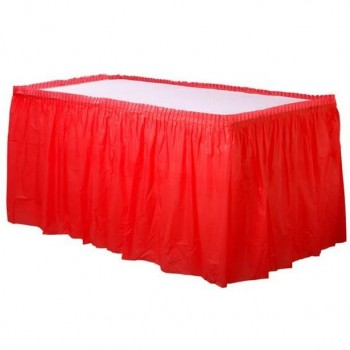 jupe de table rouge