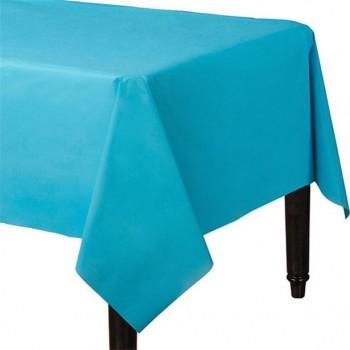 nappe de fête en plastique turquoise