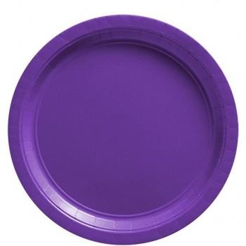 assiettes de fête violettes