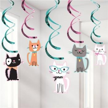 Décorations a suspendre anniversaire petits chats
