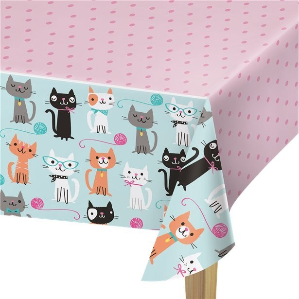 NAPPE DE TABLE ANNIVERSAIRE CHATS