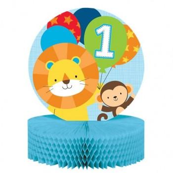 centre de table 1er anniversaire garçon safari et savane