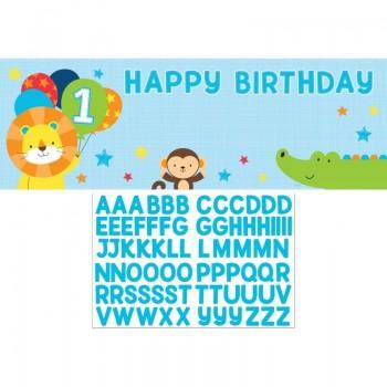 bannière personnalisable pour 1er anniversaire garçon en suisse