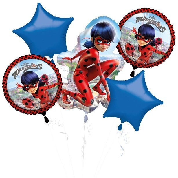 bouquet de ballons en aluminium ladybug miraculous