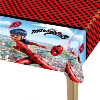 nappe en plastique anniversaire miraculous ladybug