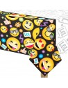 nappe en plastique anniversaire emojis et smiley