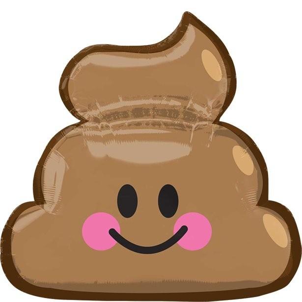 Ballon emoji caca fête d'anniversaire smiley