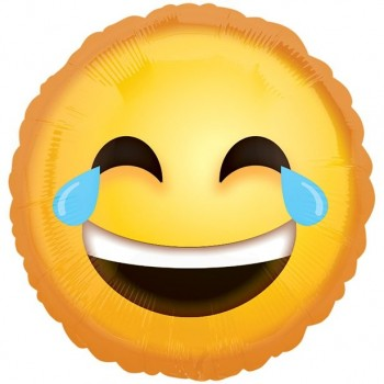 ballon aluminium emoji mourir de rire anniversaire émoticônes