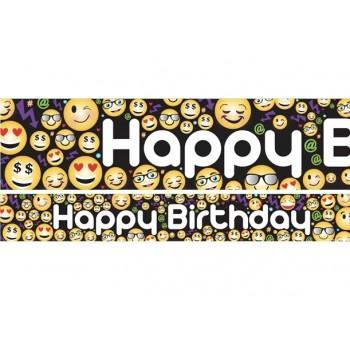 bannière joyeux anniversaire emojis smiley