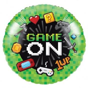 ballon aluminium anniversaire jeux video gaming