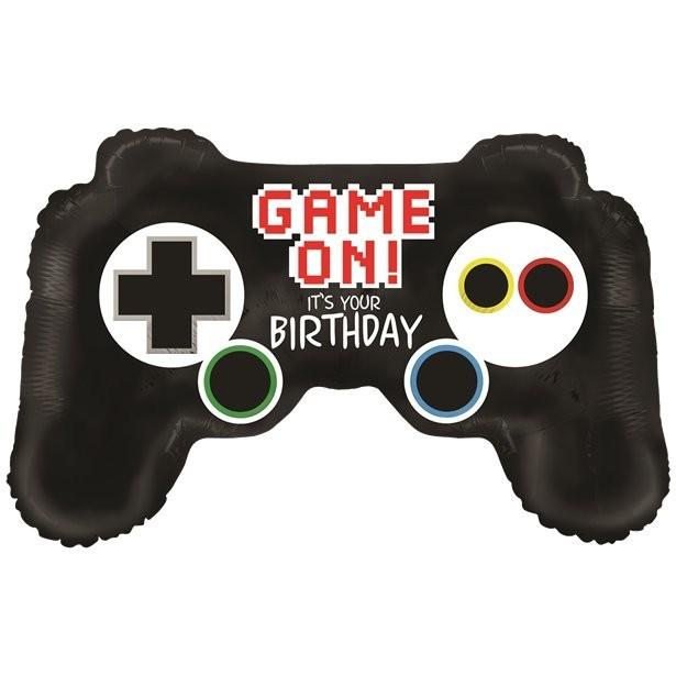 ballon manette de jeux anniversaire gaming