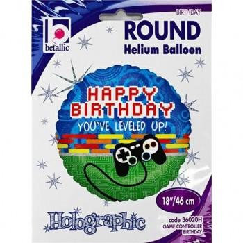 ballon hélium anniversaire jeux vidéo gaming