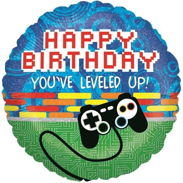 Ballon anniversaire jeux vidéo gaming