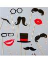 accessoires de photo moustache fête