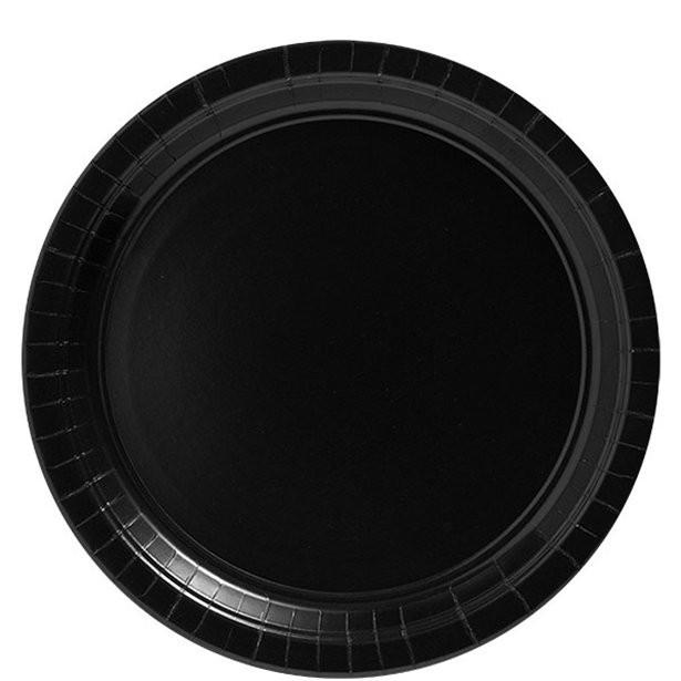 Assiettes noires en papier