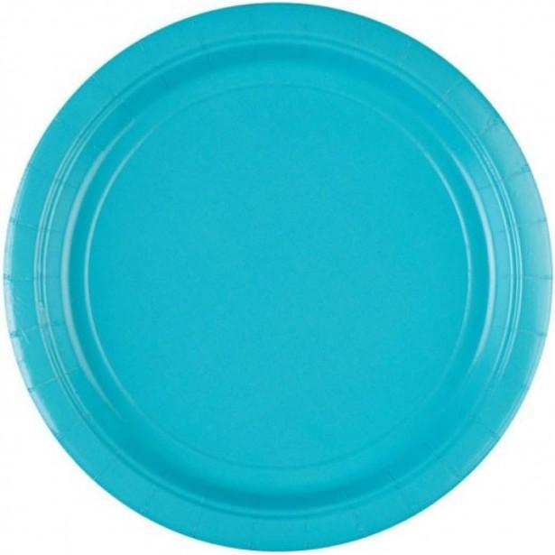 Assiettes dessert bleues déco de table bleu