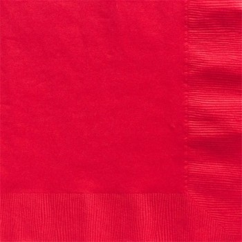 serviettes rouges 33 cm