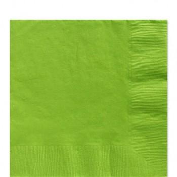 serviettes vert lime 33 cm