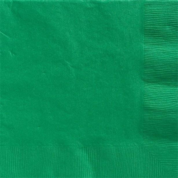 Serviettes vertes 33 cm