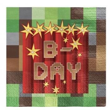 serviettes de table anniversaire minecraft