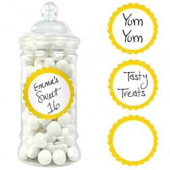 Étiquettes rondes adhésives jaunes